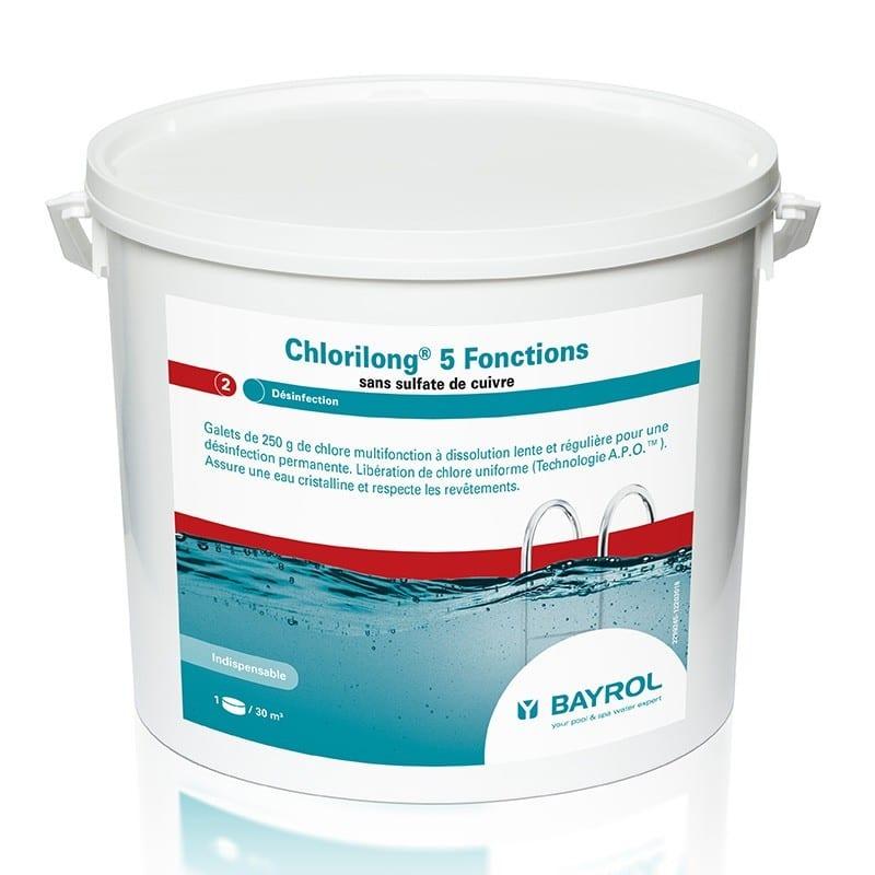 Chlorilong 5 fonctions Bayrol - chlore lent multiactions